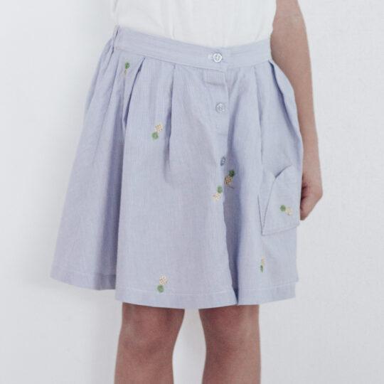 Galerne coton bleu