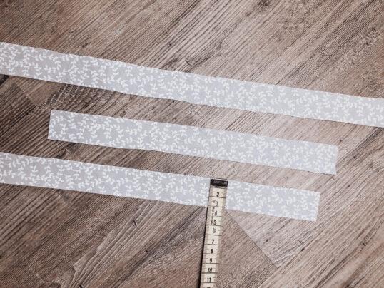 bandes de tissu de 3cm