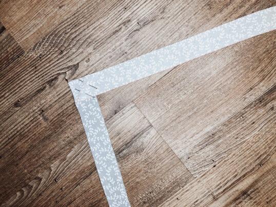 assemblage de bandes en diagonale
